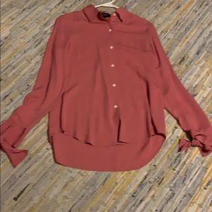 Silk long sleeve blouse by Theory